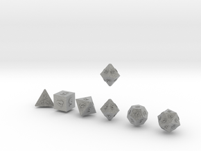 QUADRANT Sharp Outies dice in Metallic Plastic
