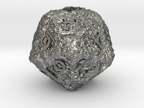 ANCIENT RELICS d20 in Polished Silver