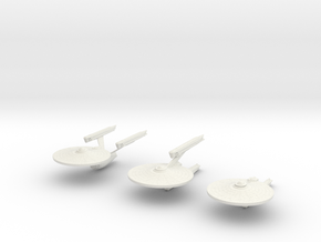 3 Starfleet Ships   small in White Strong & Flexible