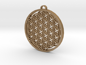Flower of Life in Matte Gold Steel