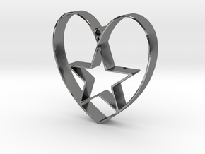 Heartbound star in Polished Silver