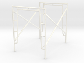 Scaff Tower 1:18scale (not full size) in White Strong & Flexible Polished