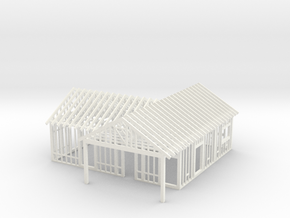 House Under Construction 1-87 HO Scale  in White Strong & Flexible Polished