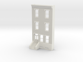 HO SCALE ROW HOME FRONT 3S  in White Strong & Flexible