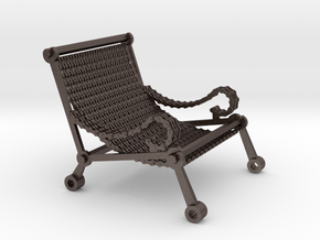 1:12 scale miniature industrial art chair in Stainless Steel