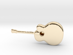 Acoustic Guitar in 14K Gold