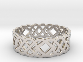 Size 10 Knot C4 in Rhodium Plated