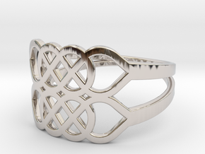 Size 10 Knot C5 in Rhodium Plated