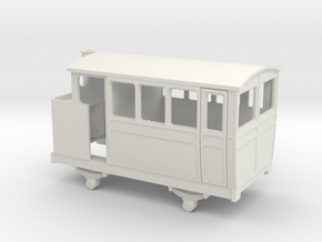 009 VB 4w steam railcar / inspection car in White Strong & Flexible