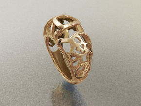 Skulls want Hearts - US 7 - Ø17.3 - C54.3 in 14k Gold Plated