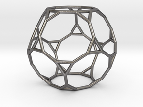 0270 Truncated Dodecahedron E (a=1cm) #001 in Polished Nickel Steel