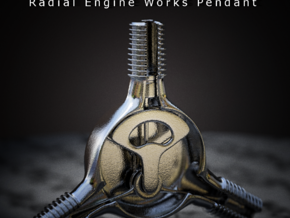 Radial Engine Works Pendant in Metallic Plastic