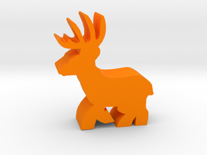 Game Piece, Deer Buck, running in Orange Strong & Flexible Polished