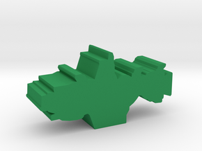 Game Piece, Earth Union Light Cruiser in Green Strong & Flexible Polished