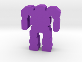 Game Piece, Assault Mech in Purple Strong & Flexible Polished