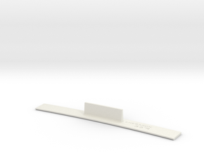 ME83-36R Curve Template HO Scale in White Strong & Flexible