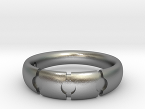 Enigmatic ring_Size 9 in Raw Silver