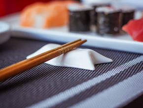 Chopstick Rest in White Strong & Flexible Polished