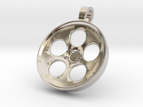 Vossen LC103 KeyChain Pendant 35mm in Rhodium Plated