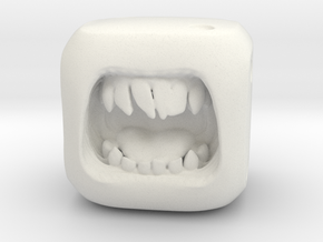 Dice Orc - Monster Dice - 16mm in White Strong & Flexible