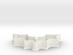 Mistletoe cookie cutter in White Strong & Flexible Polished