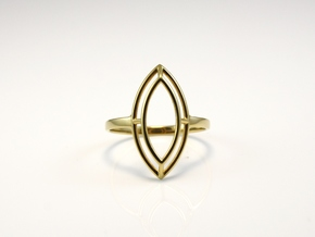 Marquise Simple Wire Ring - US Size 09 in 18k Gold Plated