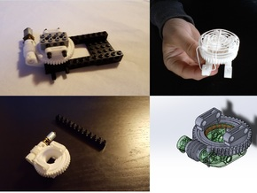 Worm Gear  in White Strong & Flexible