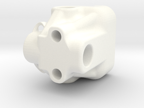 Dual all metal hotend mount for Cartesian RepRap in White Strong & Flexible Polished