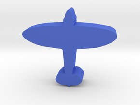 Game Piece, WW2 Spitfire Fighter in Blue Strong & Flexible Polished