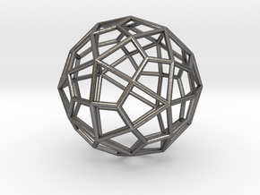 0310 Deltoidal Hexecontahedron E (a=1cm) #001 in Polished Nickel Steel