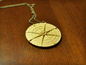 Compass Medallion in Matte Gold Steel
