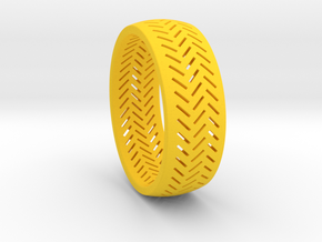 Herringbone Ring Size 16 in Yellow Strong & Flexible Polished