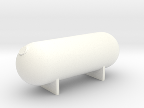 N Scale 14K Gallon Propane Tank in White Strong & Flexible Polished