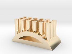 Shape toothbrush holder in 14K Gold