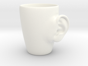 Coffee mug #3 XL - Real ear in White Strong & Flexible Polished