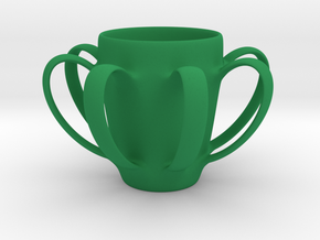 Coffee mug #4 - Many Handles in Green Strong & Flexible Polished