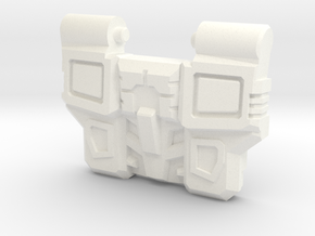 Reckless Driver's IDW Chest Plate in White Strong & Flexible Polished