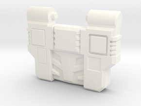Reckless Driver's G1 Chest Plate in White Strong & Flexible Polished