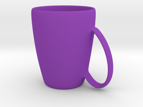 Coffee mug #6 - Handle UpSideDown in Purple Strong & Flexible Polished