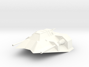 Snowspeeder in White Strong & Flexible Polished