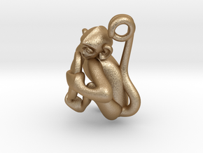3D-Monkeys 255 in Matte Gold Steel