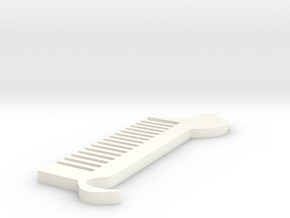 Dog comb in White Strong & Flexible Polished