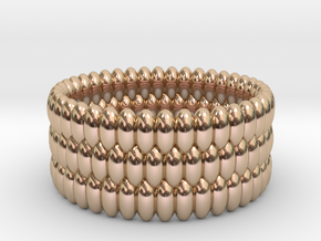 V5 - Ring in 14k Rose Gold Plated