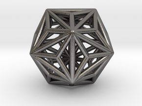 0334 Triakis Icosahedron E (a=1cm) #001 in Polished Nickel Steel