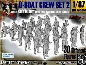 1-87 German U-Boot Crew Set2 in Frosted Ultra Detail