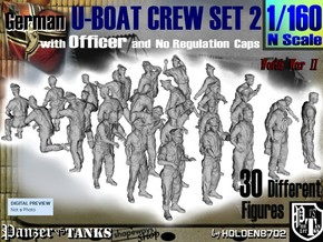 1-160 German U-Boot Crew Set2 in Frosted Ultra Detail