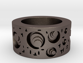 Circuitous Ring Size 8.5 in Stainless Steel