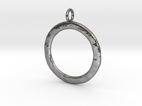 Ring-shaped pendant � rough in Polished Silver