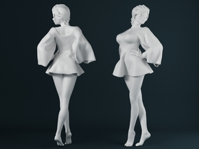Skirt Girl-002 scale 1/24 in Frosted Ultra Detail