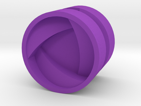 SHIELD_1814RS_LEFT - LEGO-compatible Custom Rims in Purple Strong & Flexible Polished